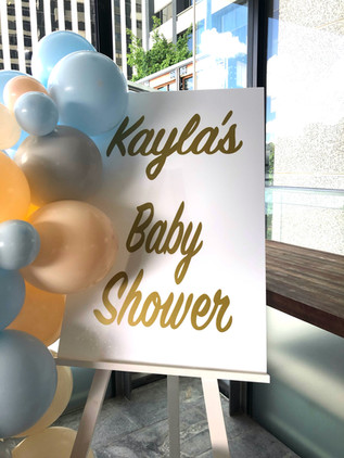 Baby Shower Signage & Balloons