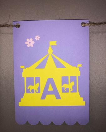 A - Carousel Bunting
