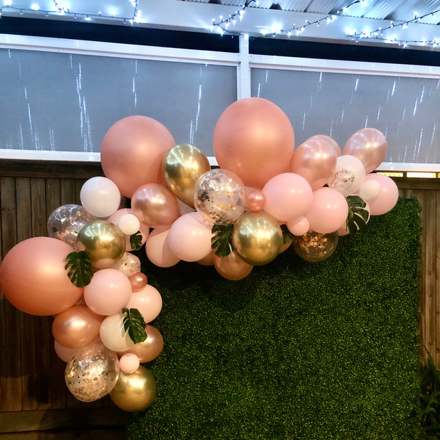 Rose Gold and Pink Balloons