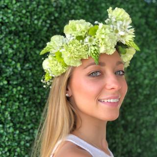 green flower crown