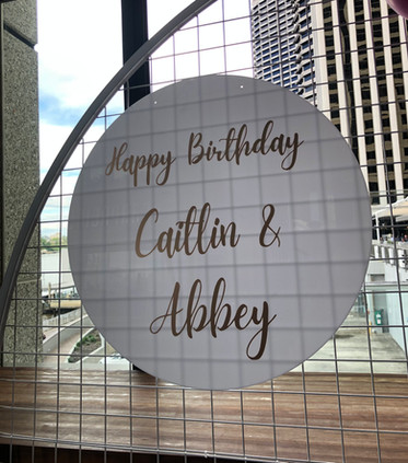 Joint Birthday Party Signage