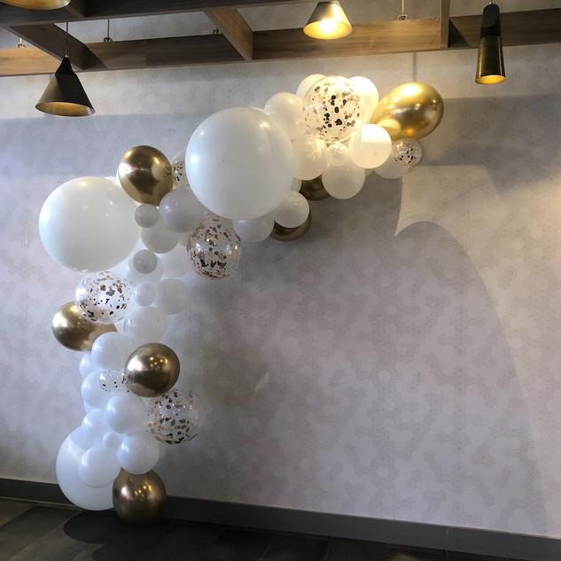 21st birthday balloon garland