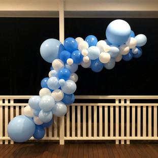 Blue Baby Shower Balloon Garland