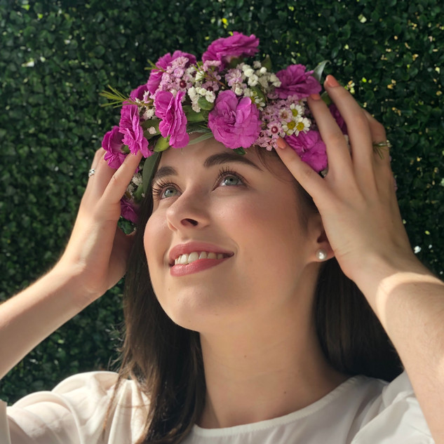 Pink Flower Crown for Photoshoot