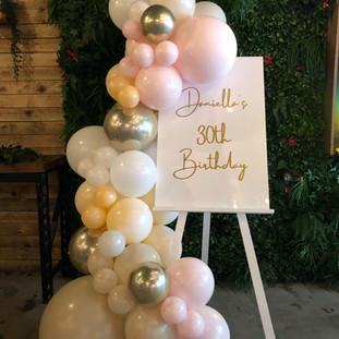 30th Signage & Balloons
