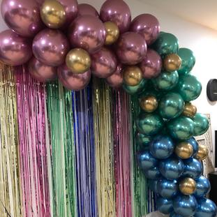 Chrome Balloon Garland
