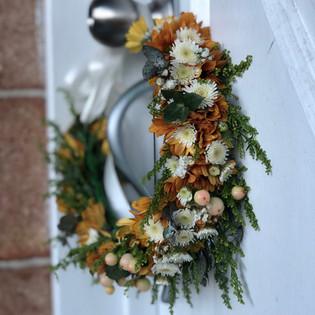 Orange Autum Flower Crown