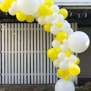 Yellow and White Balloon Garland