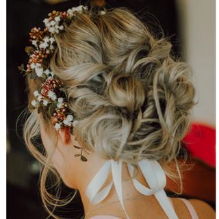 Silk Flower Crown for Wedding Photoshoot