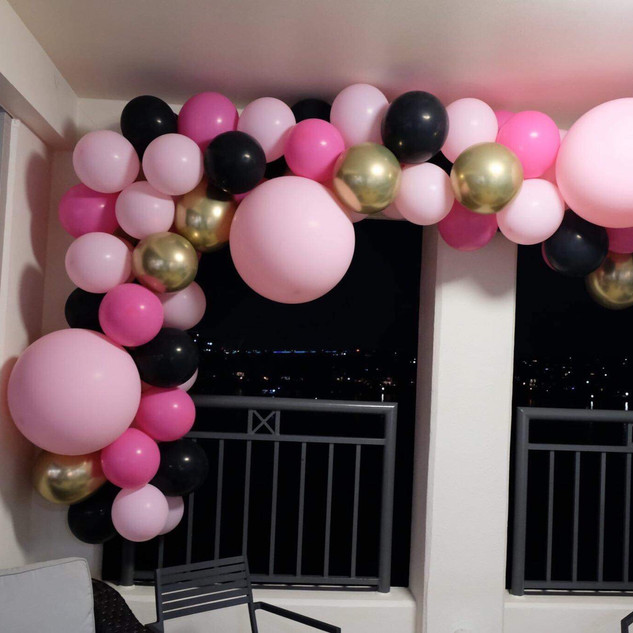 bridal shower balloon garland