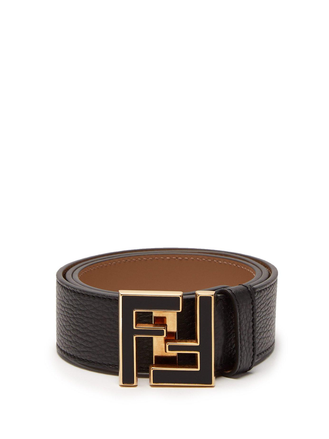 8aefeba174 FENDI FF logo-buckle leather belt