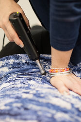 Dr Susan Knight-Nanni Female Chiropractor providing Gentle Chiropractic Care with Impulse tool adjusting and activator technique