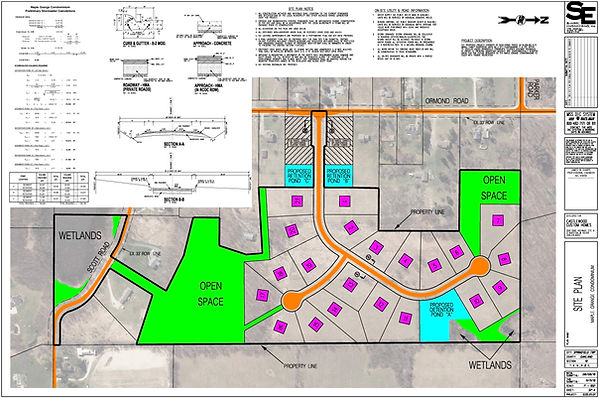 Maple Grange Site Plan Sheet