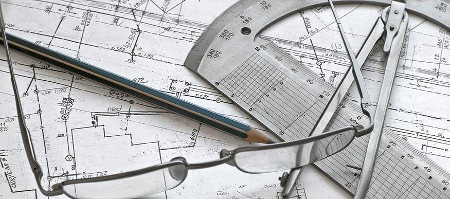 Civil engineering tools and eye glasses