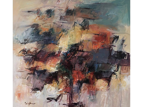 """""""Memories of Time & Place"""" Acrylic on Canvas"""