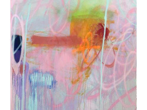 Abstract Painting by Mirtha Moreno 47.5 x 47.5