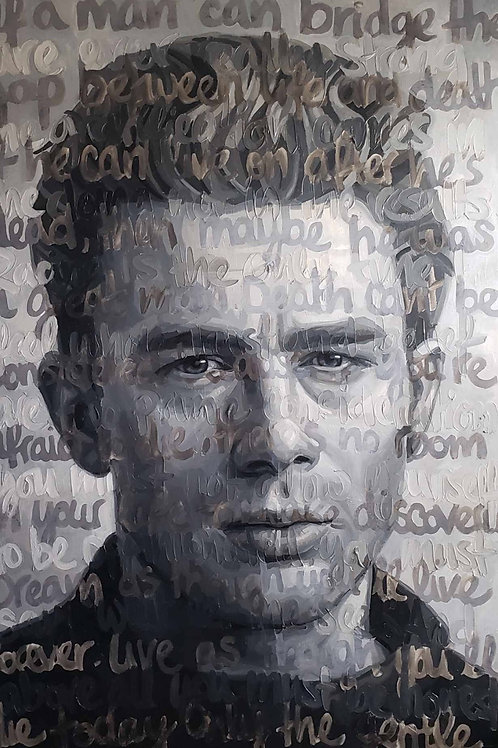 Original Oil On Canvas Painting Titled: James Dean