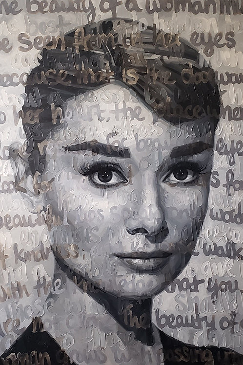 Original Oil On Canvas Painting Titled: Audrey