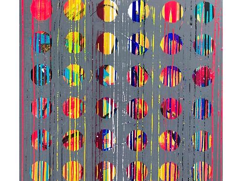 Abstract Painting by Mirtha Moreno 40 x 40