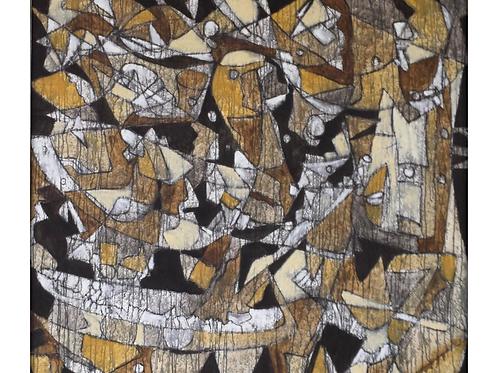 """""""Adiós Nonino"""" Oil on Canvas 53 x 57"""