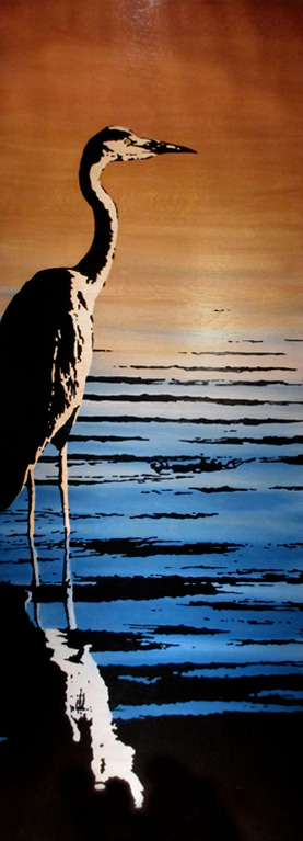 Heron Reflection: SOLD