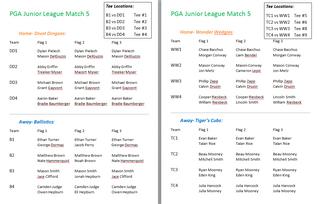 PGA Junior League Titleist Division Match 5