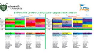 PGA Junior League Match Schedule