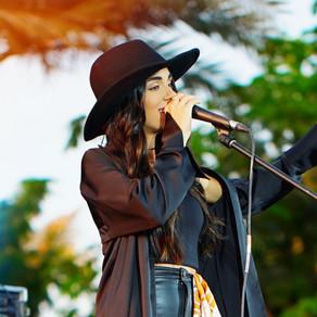Sandra Sahi performs at the Louvre, Abu Dhabi