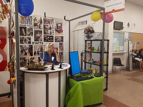 Photo du stand de Créative handicap