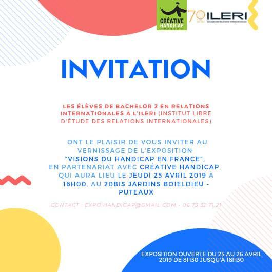 Photo du flyer de l'invitation à l'exposition