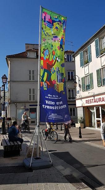 Photo du panneau de la fête de la ville de Nanterre