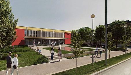 Hrvatski Dom Entrance Plaza