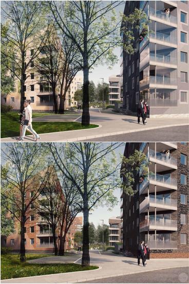 New city neighborhood Kungsljuset