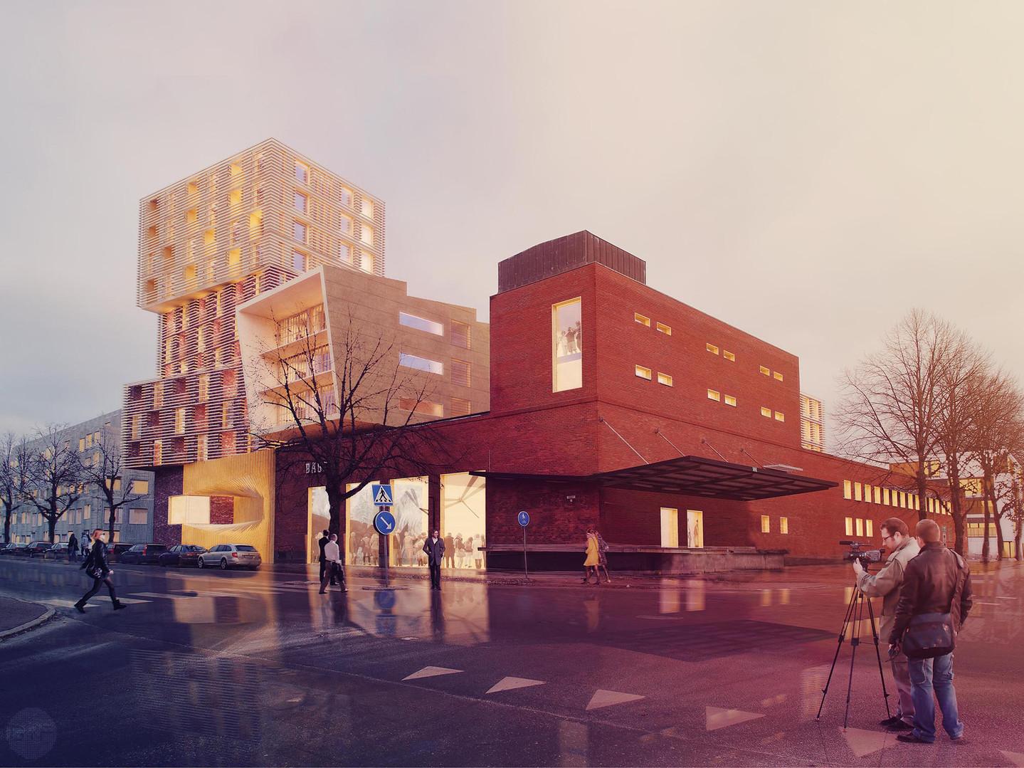 New city block in ex-industrial area Tullholmssågen
