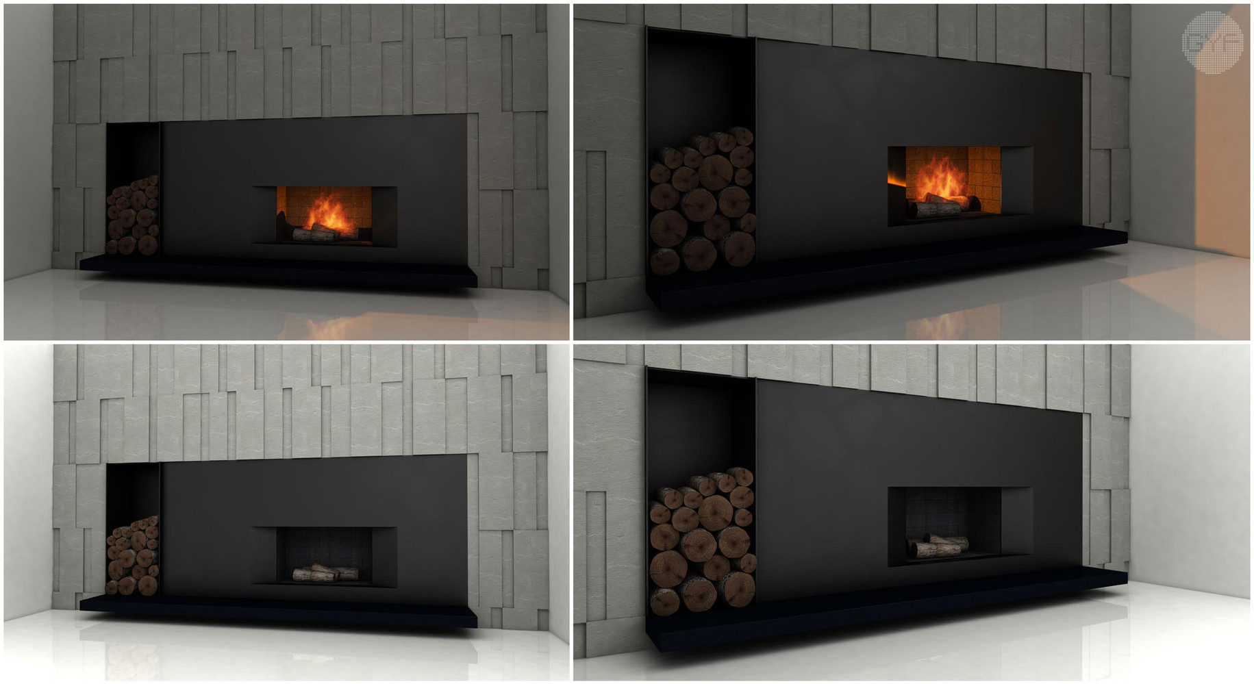 Fireplace in a single family house