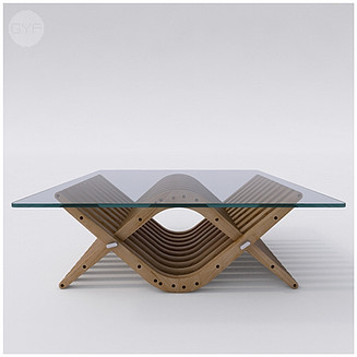 Wooden Low Table 31 BOOMERANG by Atmosfera TM