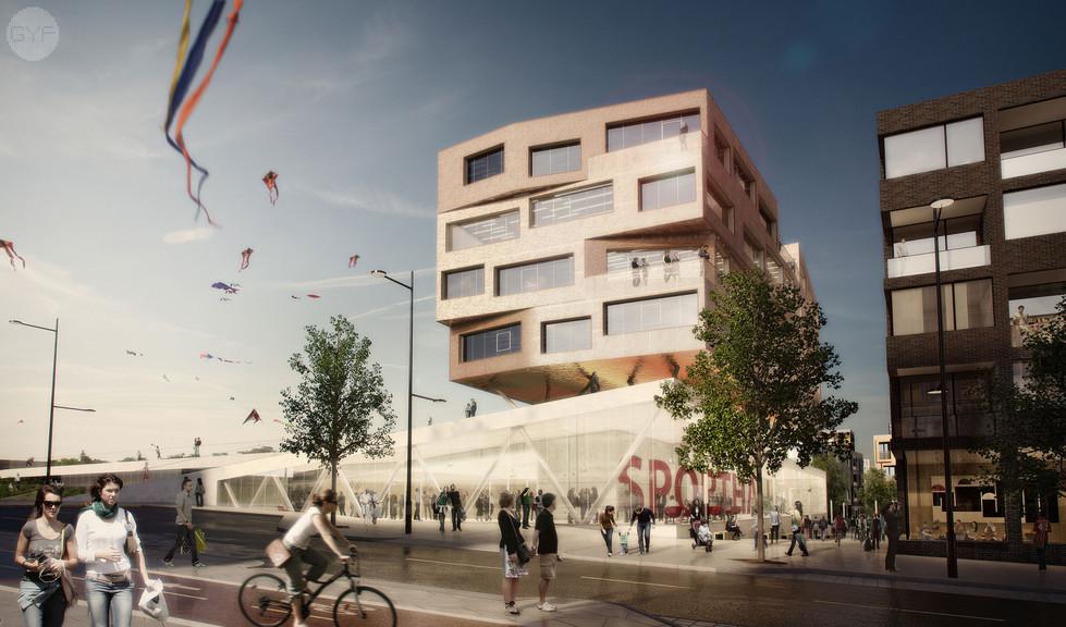 Multi-purpose Sports Hall in a new residential neighborhood- Västra Ursvik