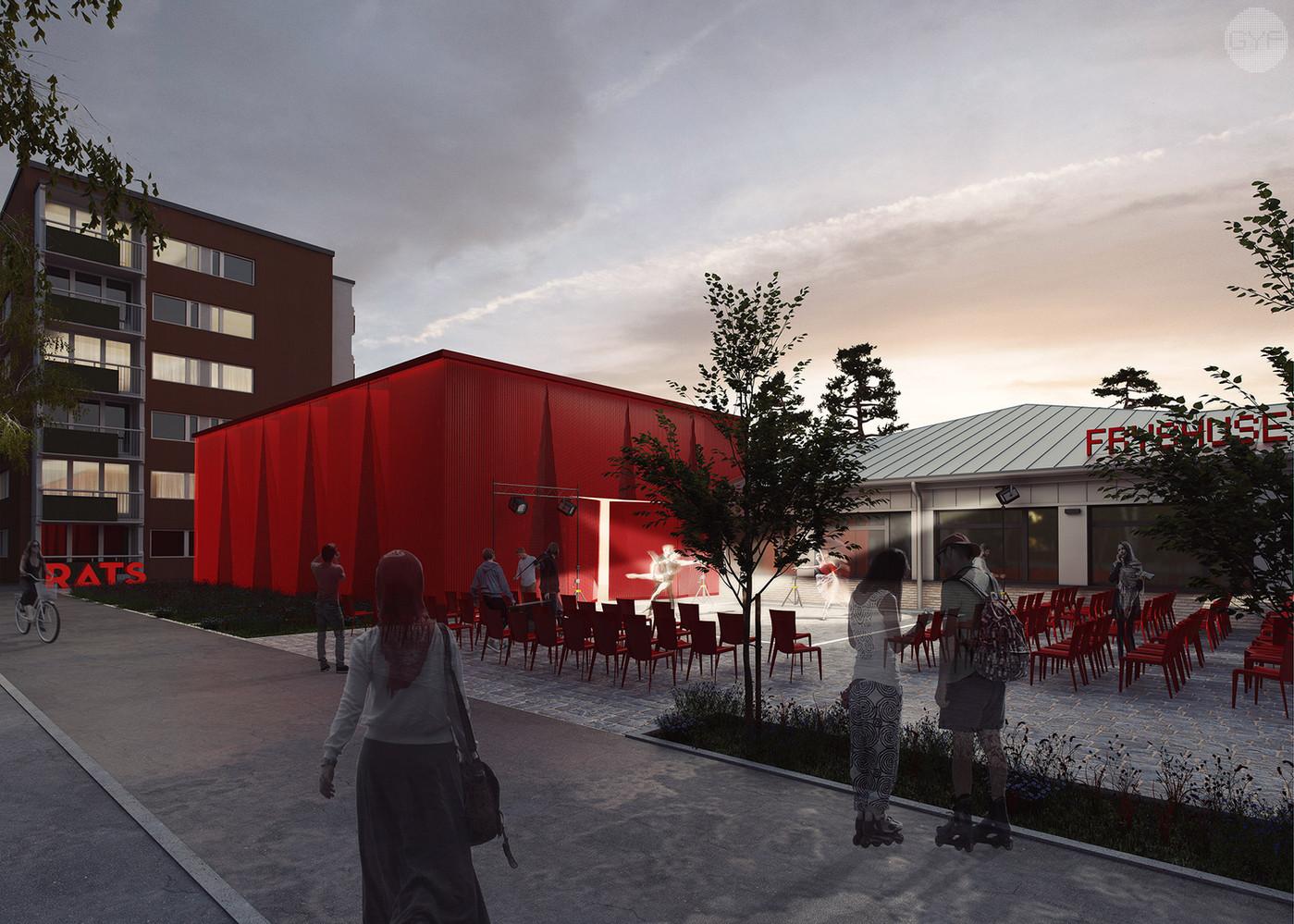 RATS Theatre, adaptation of a school building