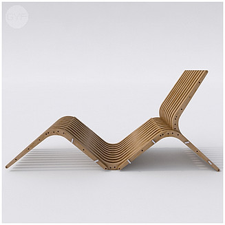 Wooden Chaise Lounge BOOMERANG by Atmosfera TM