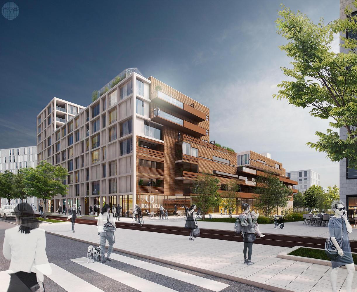 Housing Block in a new urban neighborhood