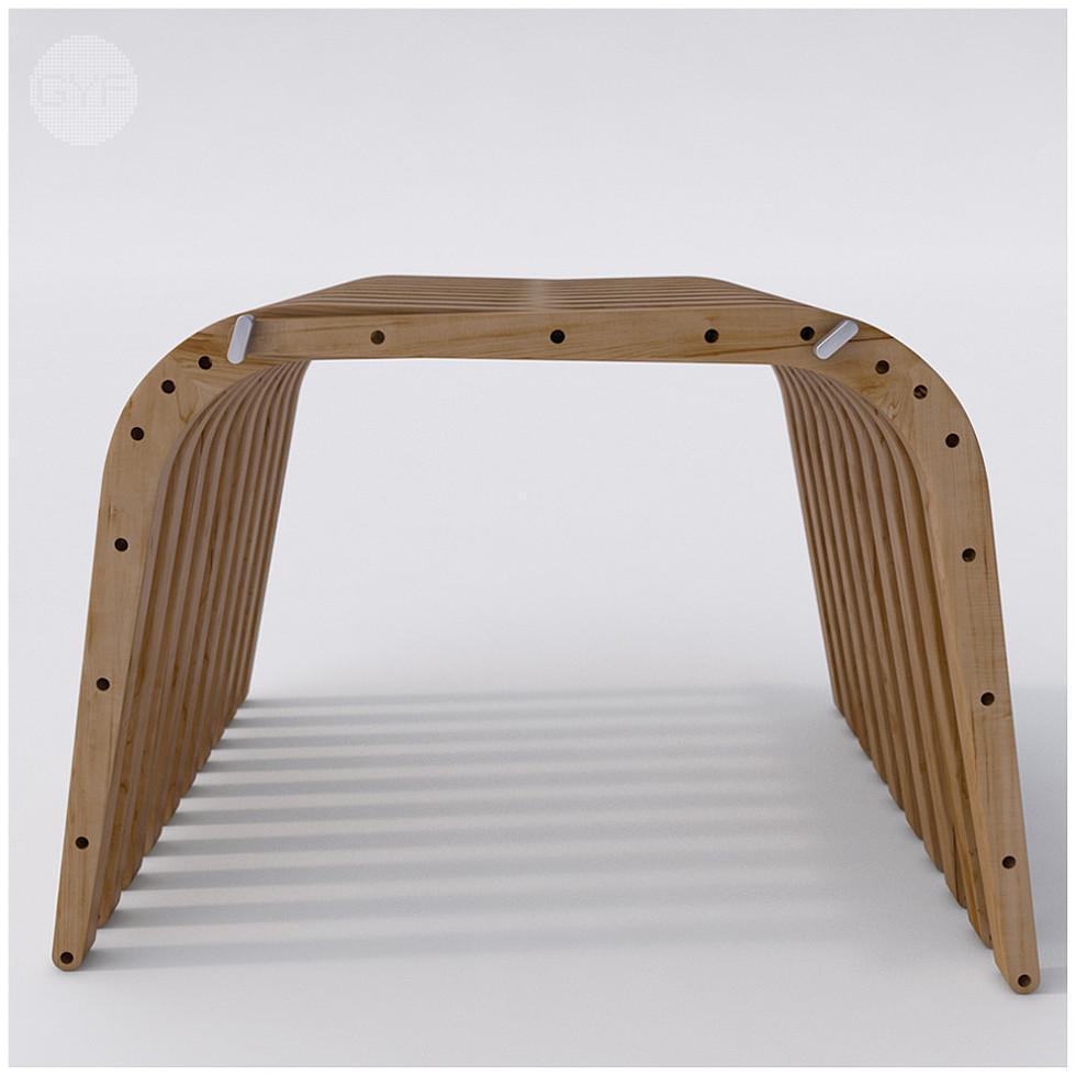 Wooden Bench 74 BOOMERANG by Atmosfera TM