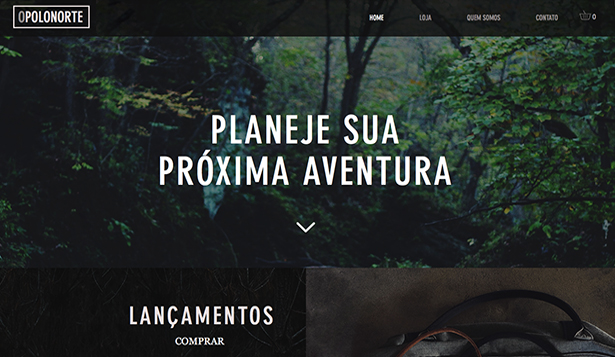 Loja Virtual website templates – Mochilas