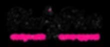 toni tails logo pink black plus-size woman bikini art logo