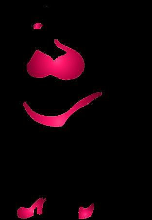 Toni Tails Logo Woman Plus-Size Pink Bikini Minimal Curve Style Art