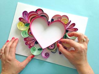 DIY Paper Filigree Heart