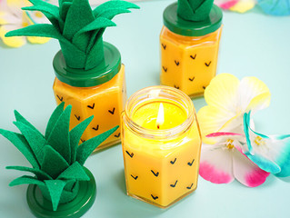 Easy DIY Pinapple Candles