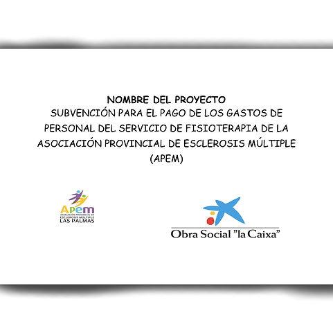 Proyecto - Pago de gastos de personal fisioterapia
