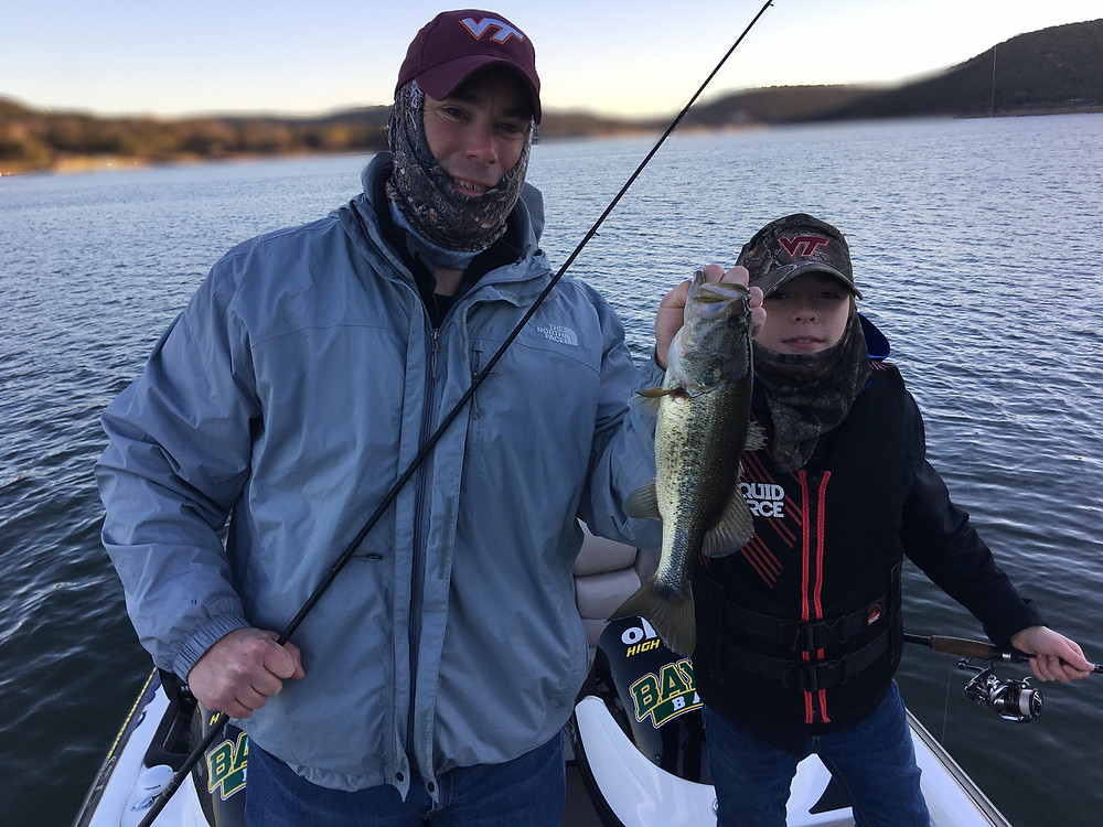 Lake Travis bass on a cold morning