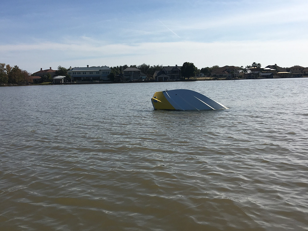 Lake LBJ Flood Debris Boat
