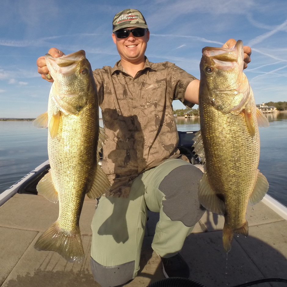 Lake LBJ Fatties! Jan 17, 2019 Fishing Report (Great Tips on Finding and Fishing Rock Piles)